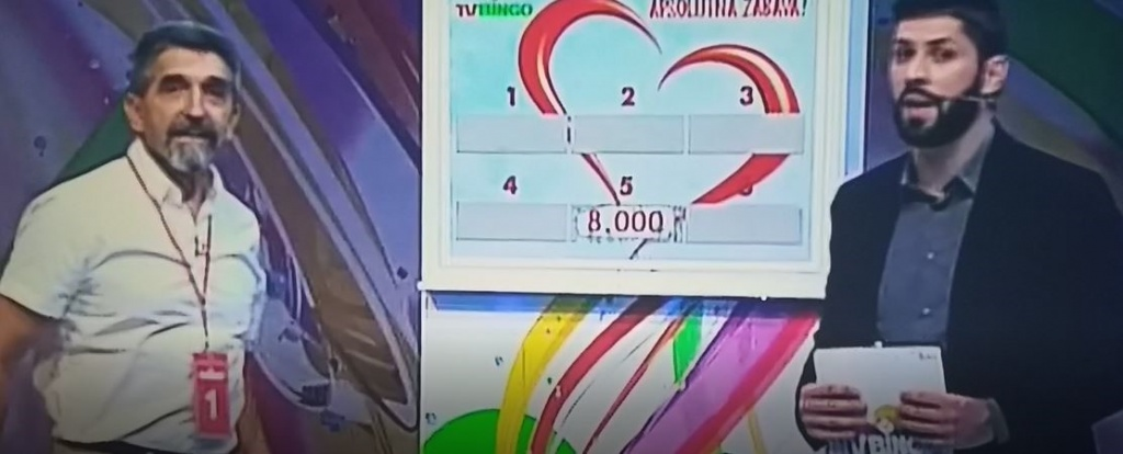 Prof. Zvonko Herceg donio RK Izviđač 8000 KM na TV-bingo showu [video]